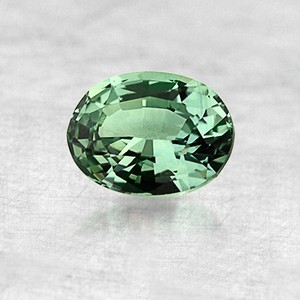 8x6mm Green Oval Sapphire, top view