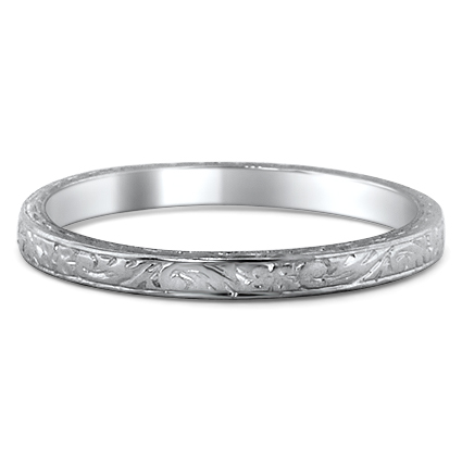 18K White Gold The Svetlana Ring, large top view