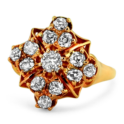14K Yellow Gold The Tabitha Ring, large top view