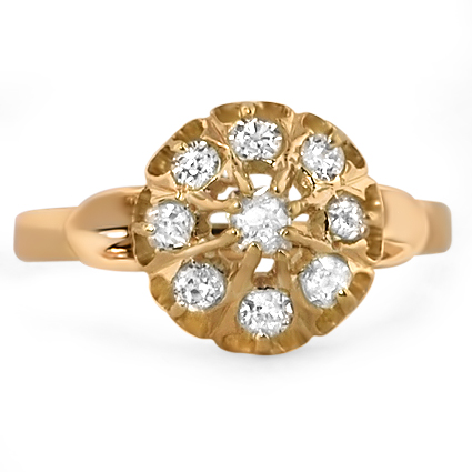 14K Yellow Gold The Tasha Ring, large top view