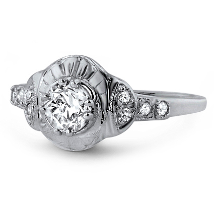 18K White Gold The Tildie Ring, large top view
