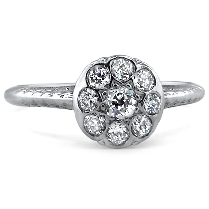 Platinum The Valencia Ring, large top view