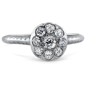Platinum The Valencia Ring, top view