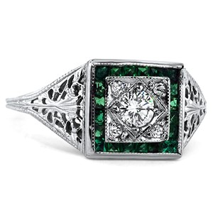 Platinum The Whitney Ring, top view