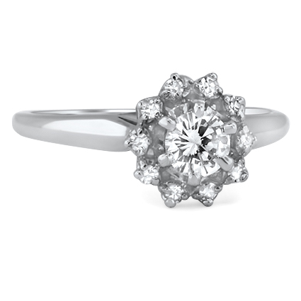 18K White Gold The Kessa Ring, top view