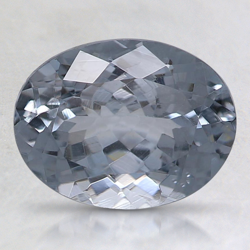 9x6.9mm Gray Oval Spinel