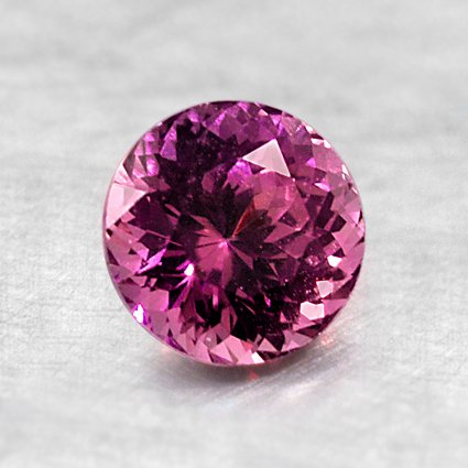 6mm Super Premium Unheated Purple Round Sapphire, top view