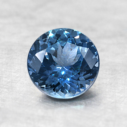6.3mm Montana Teal Round Sapphire, top view