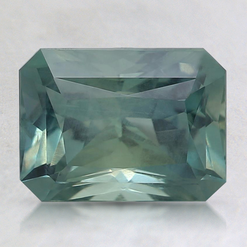 8.5x6.4mm Unheated Teal Radiant Montana Sapphire
