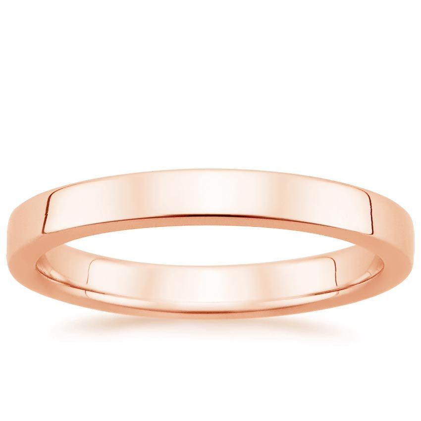 14K Rose Gold 2.5mm Quattro Wedding Ring, top view
