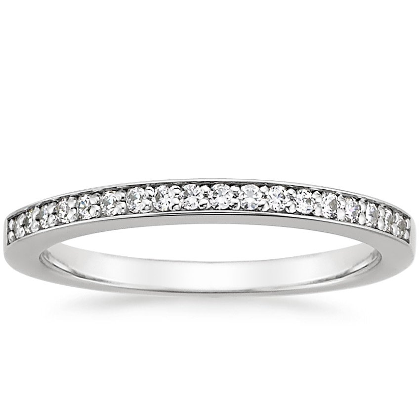 Pavé Bands: Petite Pave Diamond Ring
