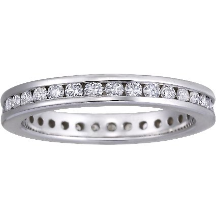 Petite Eternity Channel Set Round Diamond Ring (1/2 ct. tw.) in 18K White Gold
