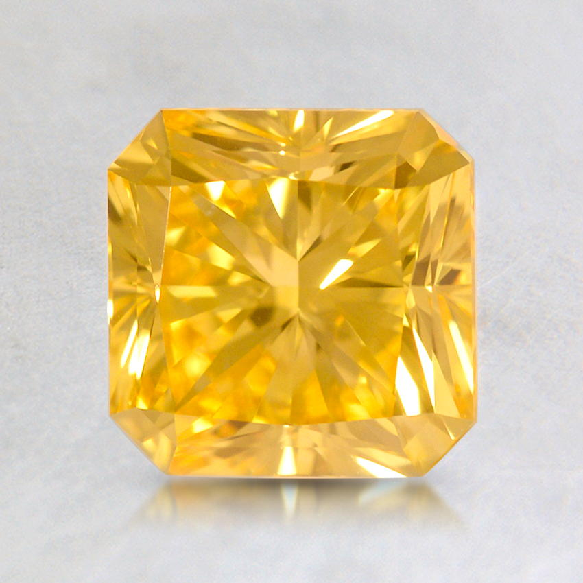 1.20 ct. Lab Created Fancy Vivid Yellow Radiant Diamond, top view
