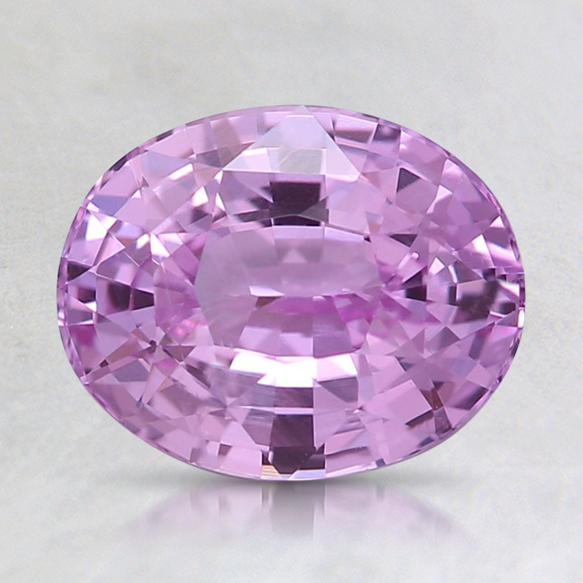 8.2x6.6mm Unheated Pink Oval Sapphire