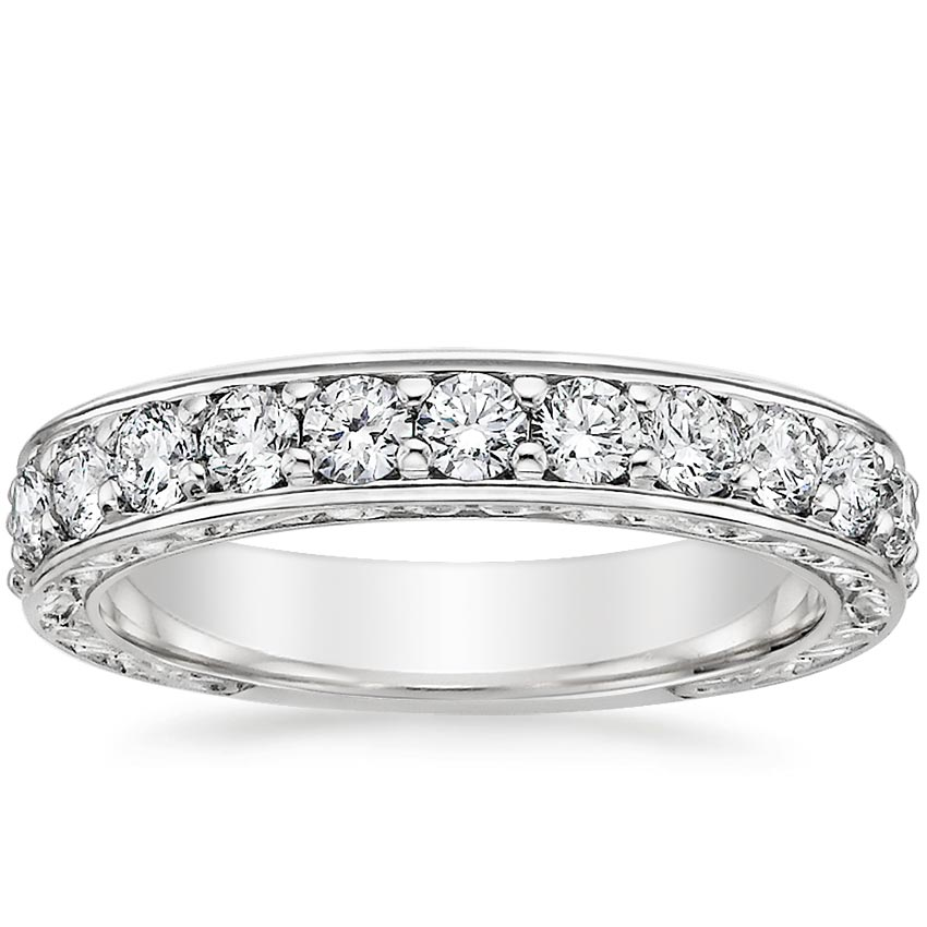 Top Twenty Women's Wedding Rings  - LUXE ANTIQUE SCROLL RING (3/4 CT. TW.)