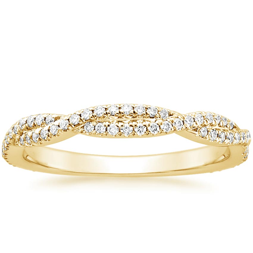 Yellow Gold Petite Luxe Twisted Vine Diamond Ring (1/4 ct. tw.)