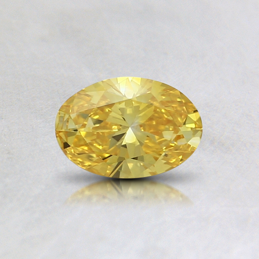 0.36 Ct. Fancy Intense Yellow Oval Lab Created Diamond