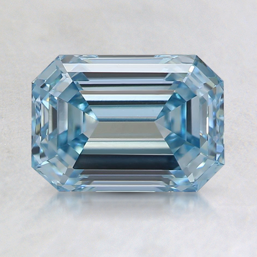 1.50 Ct. Fancy Intense Blue Emerald Lab Created Diamond