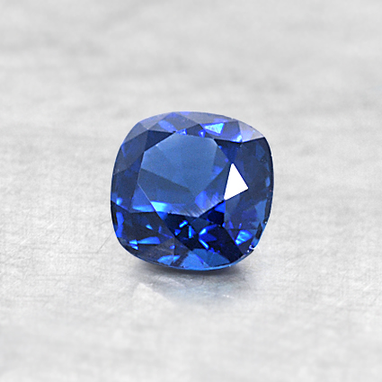 4.5mm Blue Cushion Sapphire, top view
