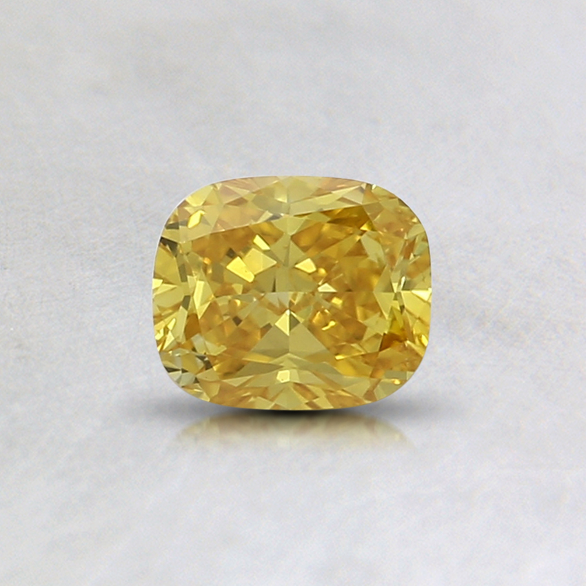 0.38 Ct. Fancy Vivid Yellow Cushion Lab Created Diamond