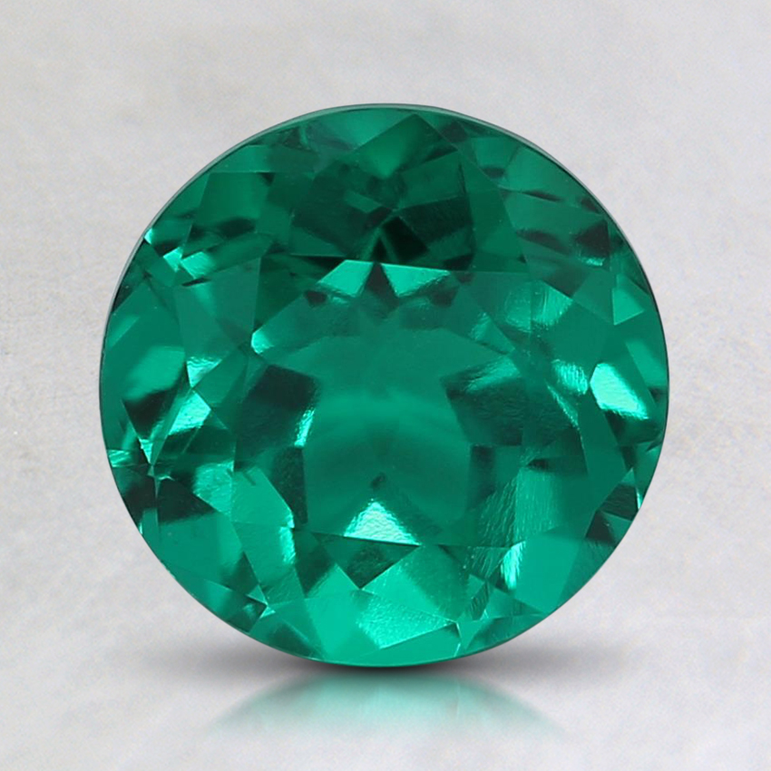 7.5mm Round Lab Created Emerald