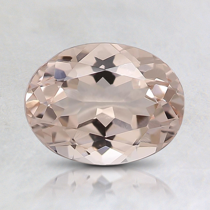 7.7x5.9mm Peach Oval Morganite
