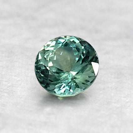 5.25mm Light Green Round Sapphire, top view