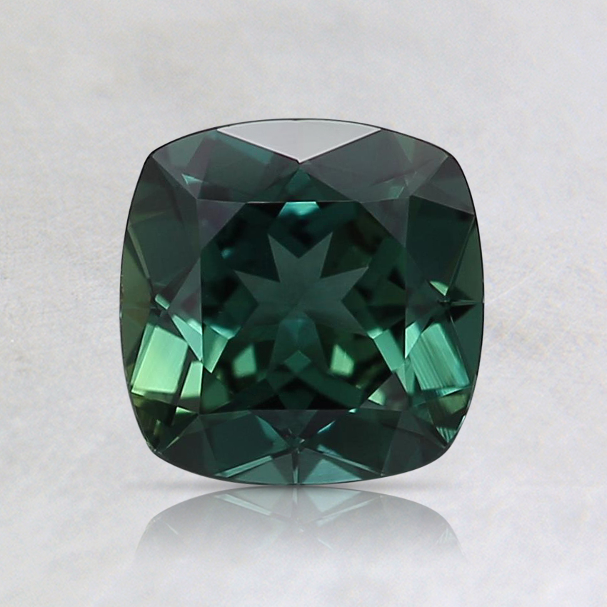 6.1mm Unheated Teal Cushion Sapphire