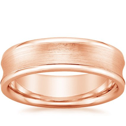 14K Rose Gold Zenith Ring, top view