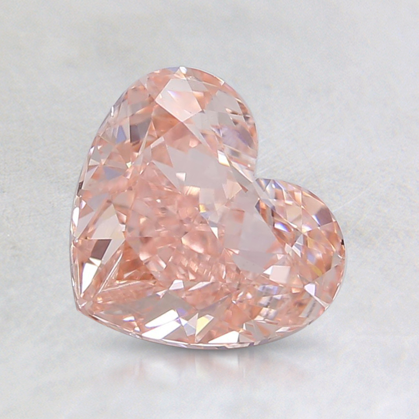1.50 Ct. Fancy Intense Pink Heart Lab Created Diamond