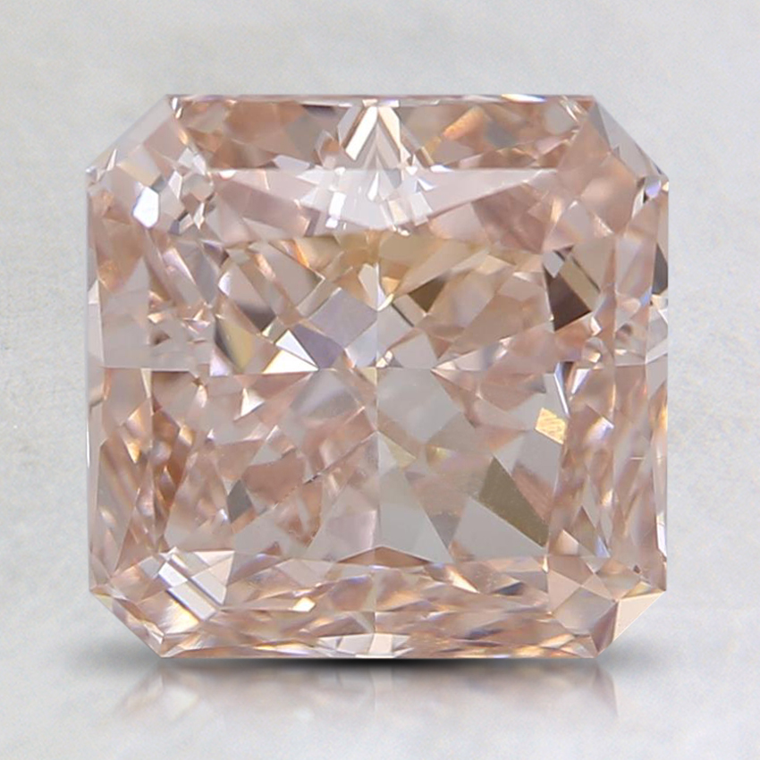 2.44 Ct. Light Orangy Pink Radiant Lab Created Diamond