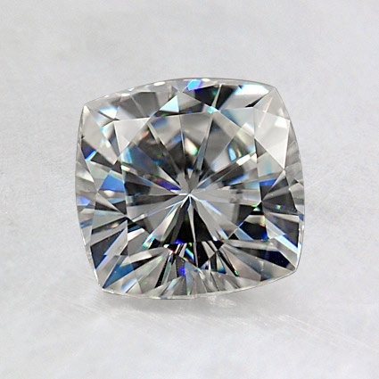 6.5mm Cushion Moissanite, top view