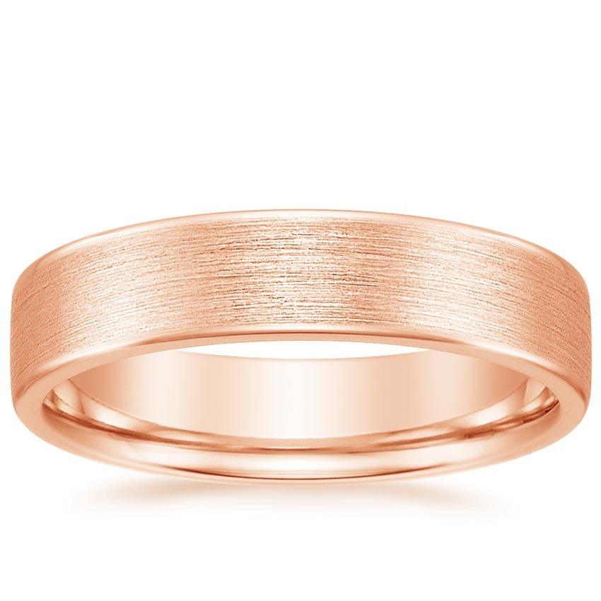 14K Rose Gold Mojave Matte Ring, top view