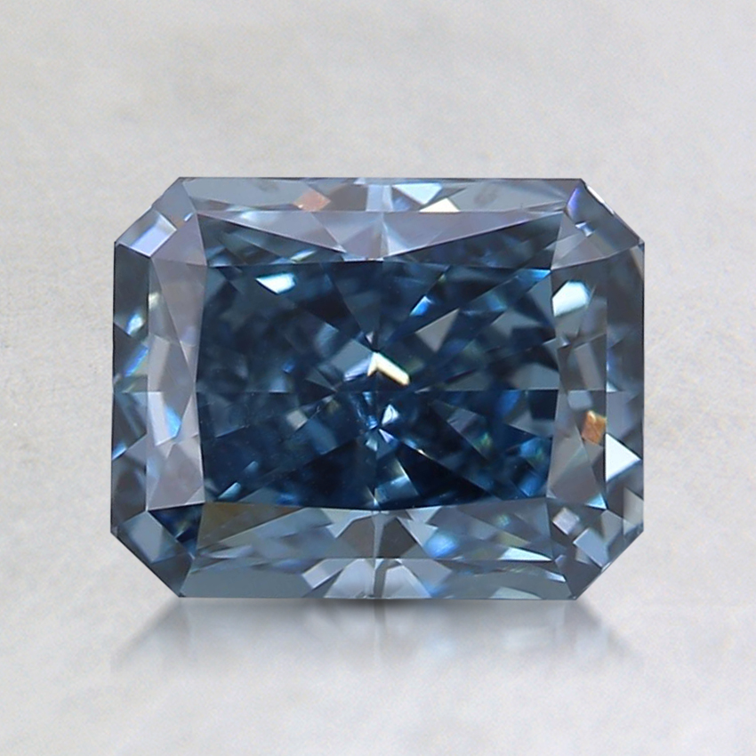1.35 Ct. Fancy Deep Blue Radiant Lab Created Diamond