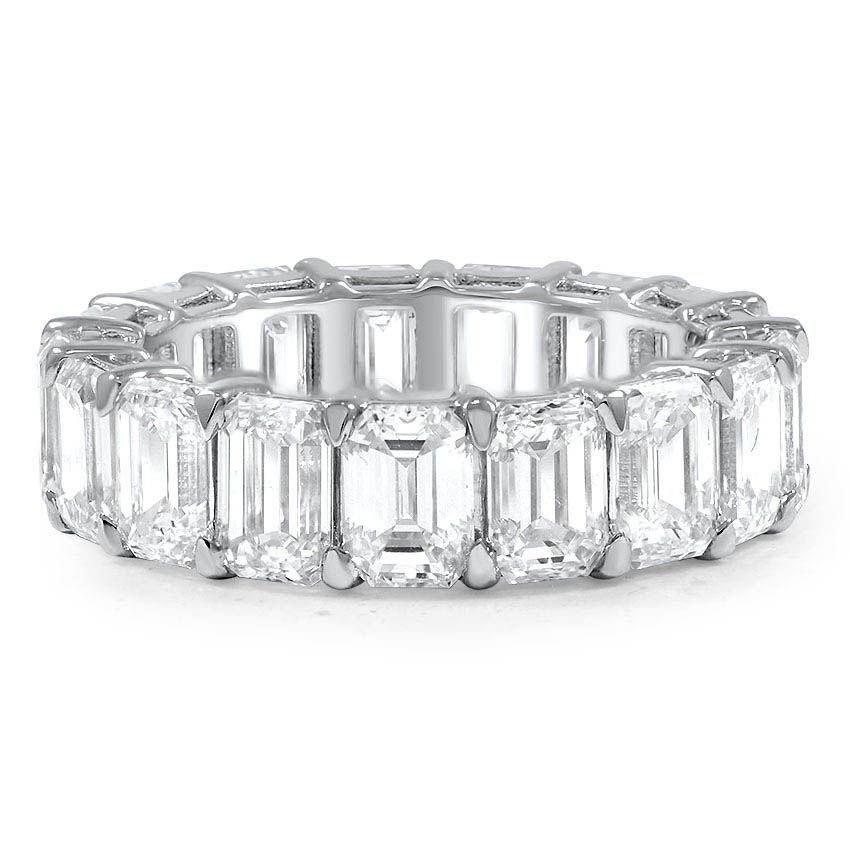 Custom Emerald Cut Diamond Eternity Ring