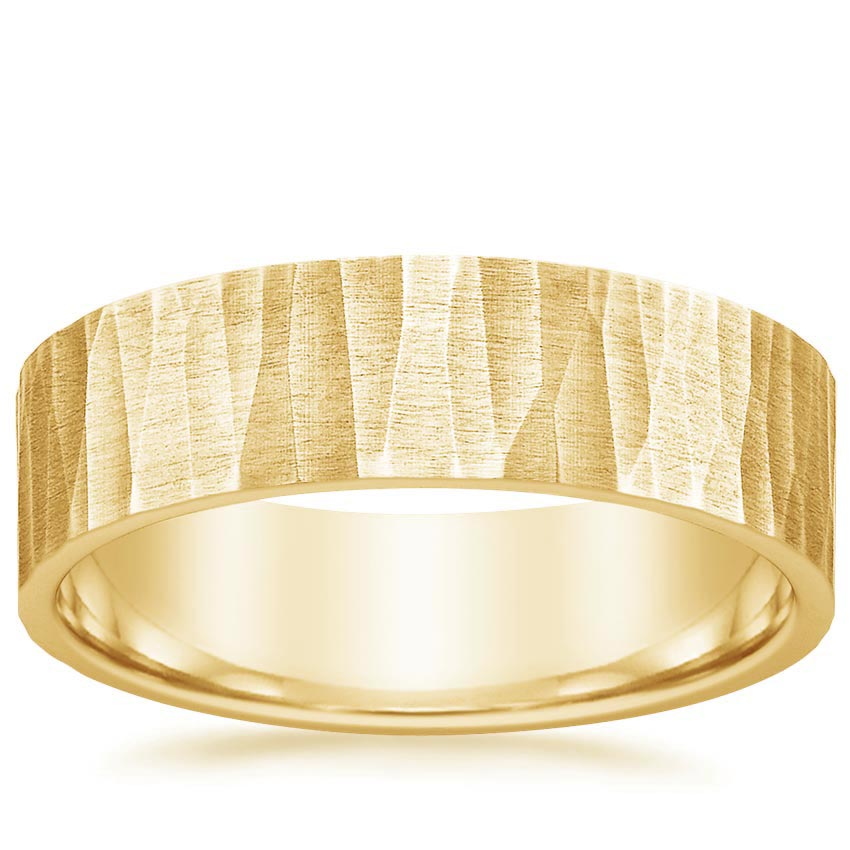 Yellow Gold Aspen Wedding Ring