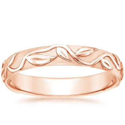14K Rose Gold Ivy Ring, top view