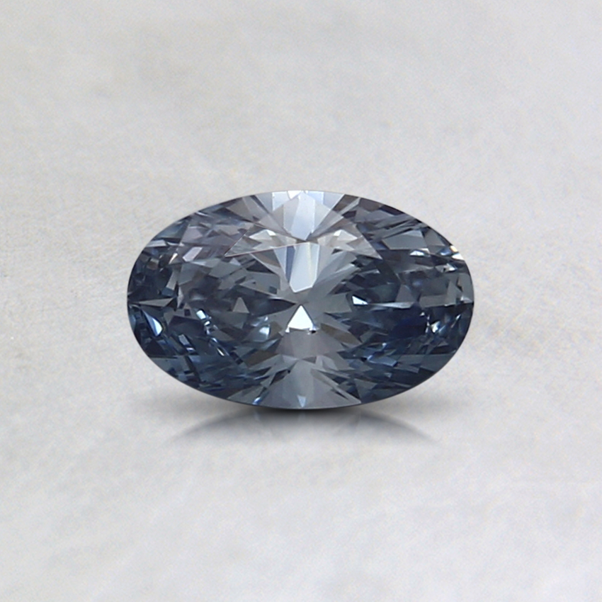 0.34 Ct. Fancy Blue Oval Lab Created Diamond