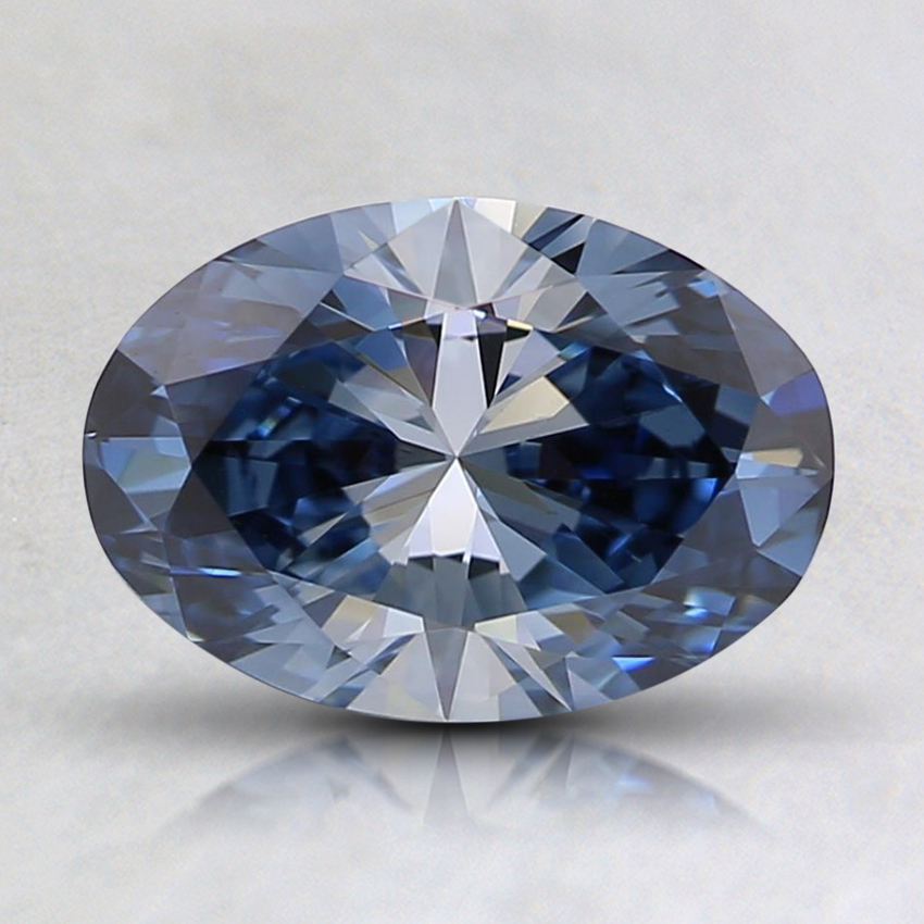 1.09 Ct. Fancy Blue Oval Lab Created Diamond
