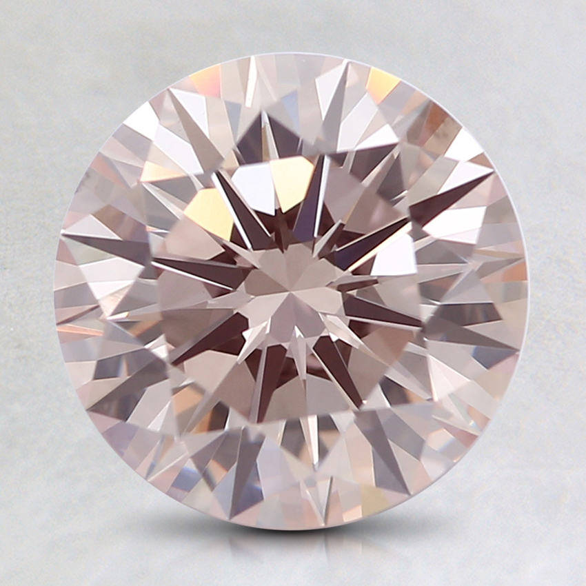 2.18 Ct. Fancy Light Pink Round Lab Created Diamond