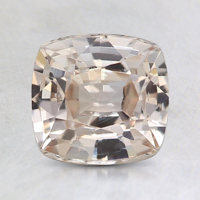 7x6.7mm Unheated Peach Cushion Sapphire