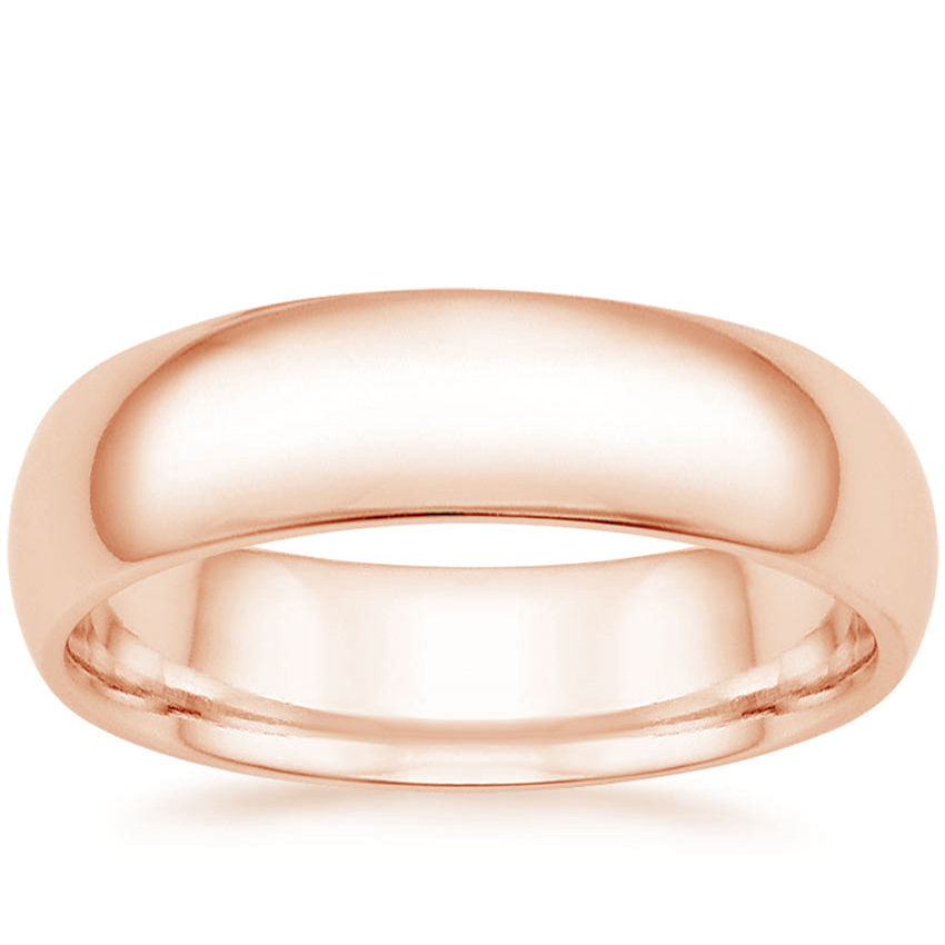 Rose Gold 6mm Comfort Fit Wedding Ring