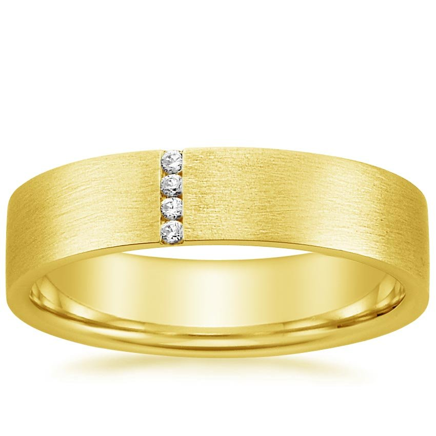 18K Yellow Gold Horizon Ring, top view