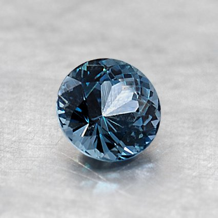 5mm Premium Teal Round Sapphire, top view