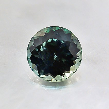 5.5mm Premium Teal Round Sapphire, top view