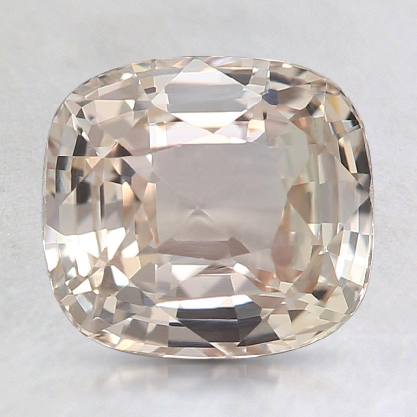 8.2x7.5mm Unheated Peach Cushion Sapphire