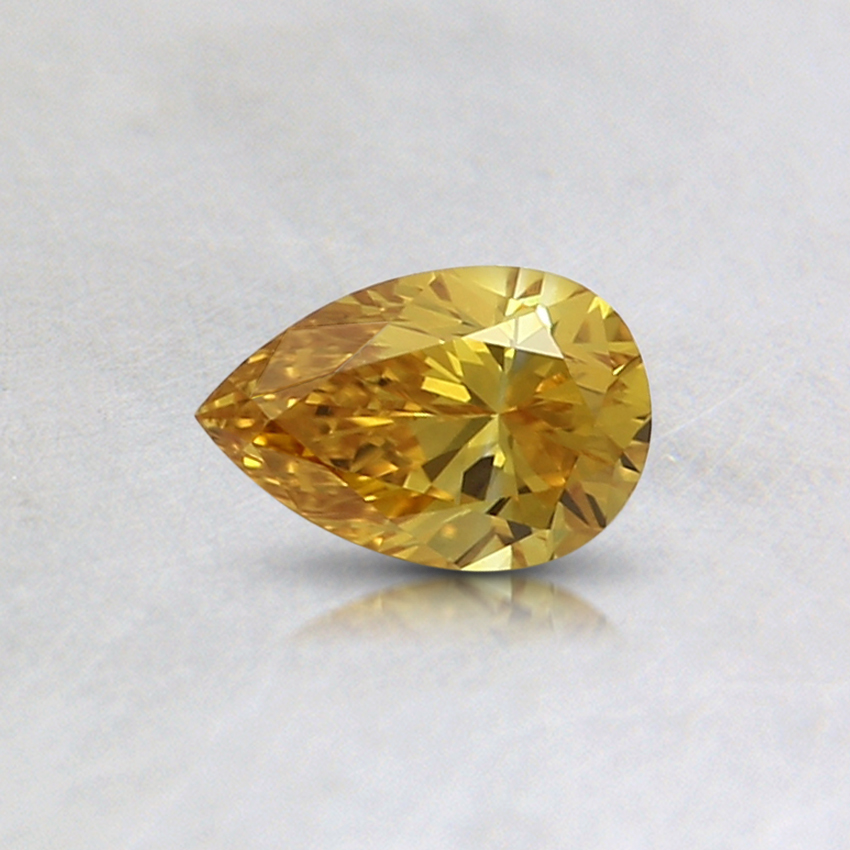 0.30 Ct. Fancy Vivid Orange-Yellow Pear Lab Created Diamond