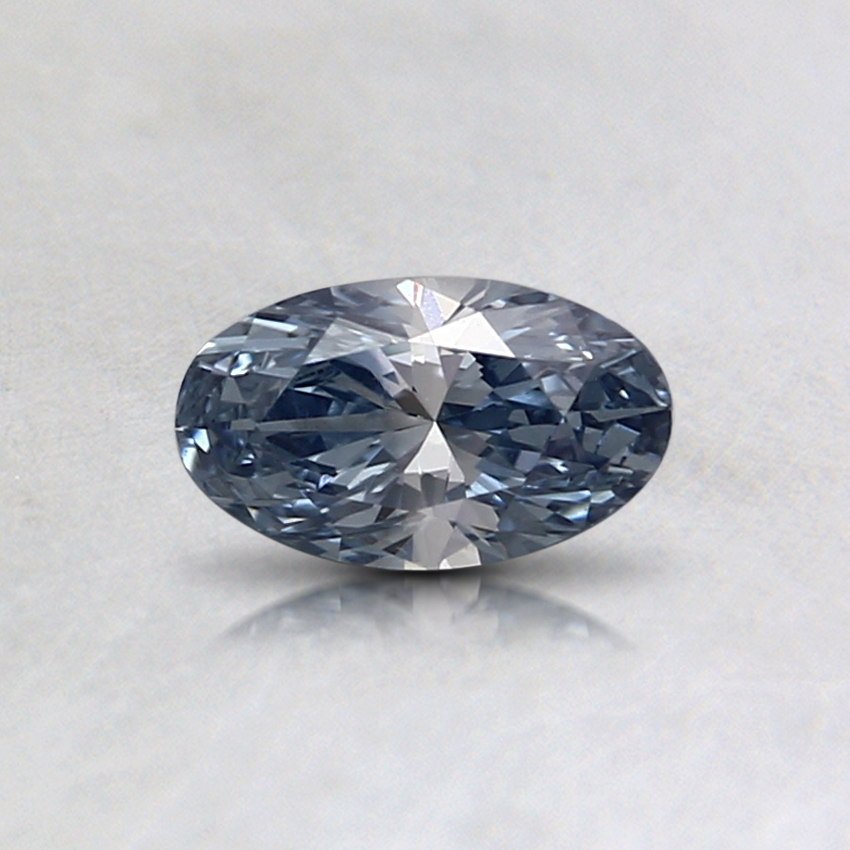 0.32 Ct. Fancy Light Blue Oval Lab Created Diamond