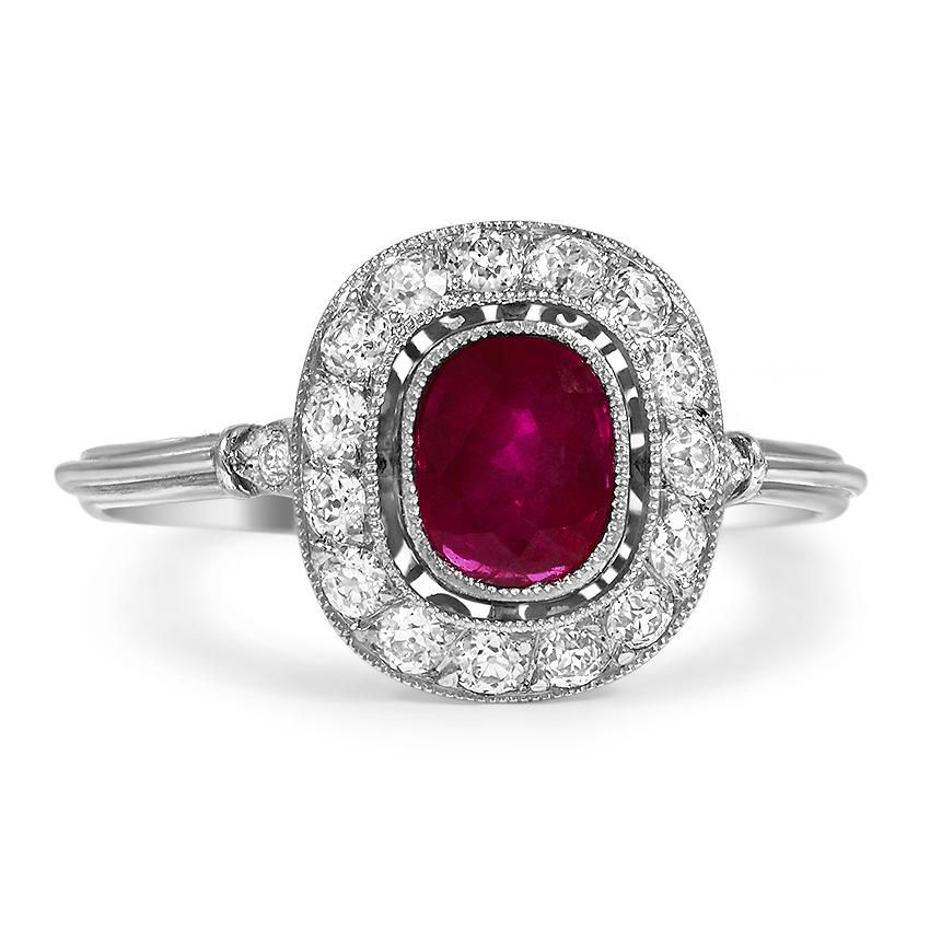 Modern Ruby Vintage Ring