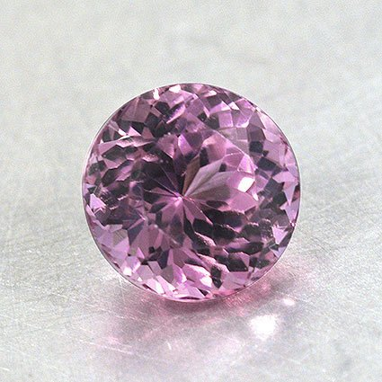 5.75mm Pink Round Sapphire, top view